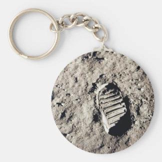 """""""Moon Footprint"""" keychain"""