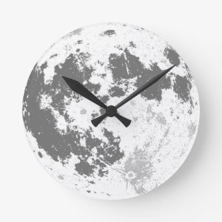 Moon Full Moon Bright Supermoon Round Clock