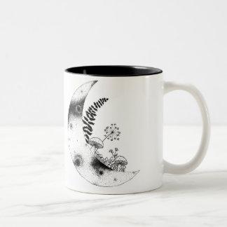 """""""Moon Garden"""" Two tone mug"""