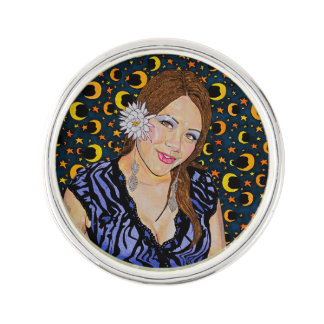MOON GLOW AT MIDNIGHT LAPEL PIN