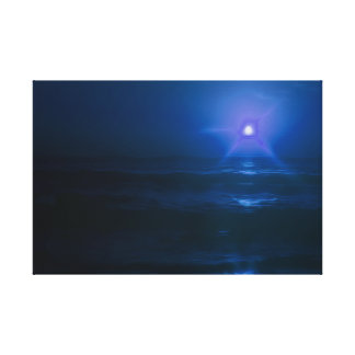 Moon Glow Beach Gallery Wrap Canvas