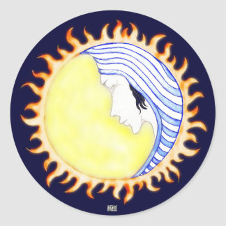 Moon Goddess Classic Round Sticker