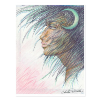 moon goddess post card