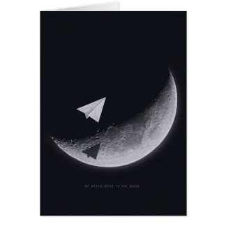 Moon,Greeting Card, white envelopes included Greeting Card