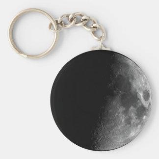 Moon, Half Moon Basic Round Button Key Ring