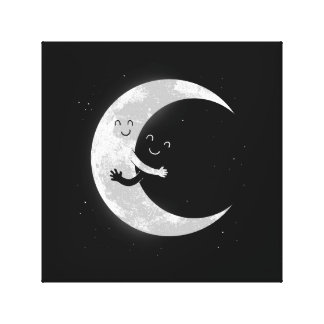Moon Hug Gallery Wrapped Canvas