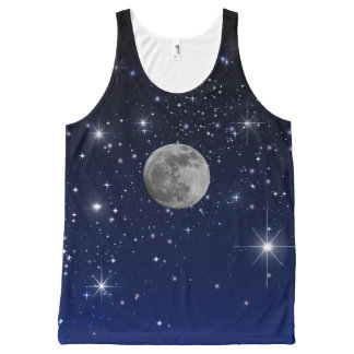 MOON IN SPACE All-Over PRINT TANK TOP