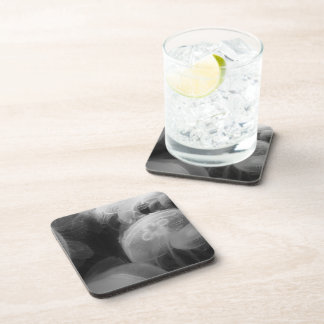 Moon Jellyfish Beverage Coasters