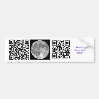 Moon Joke Bumper Sticker