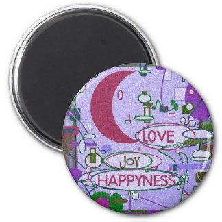 Moon Joy 6 Cm Round Magnet
