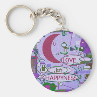 Moon Joy Basic Round Button Key Ring