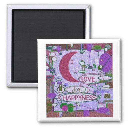 Moon Joy Refrigerator Magnets