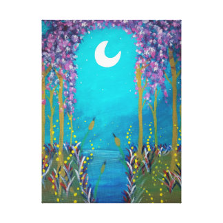 Moon Lagoon Canvas Print