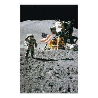 moon landing apollo 15 lunar module nasa 1971 stationery