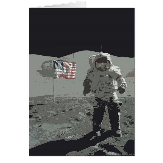 Moon Landing Birthday Card