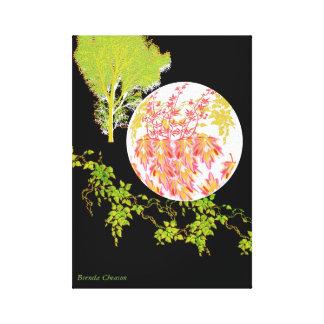 Moon Leaves Art Canvas