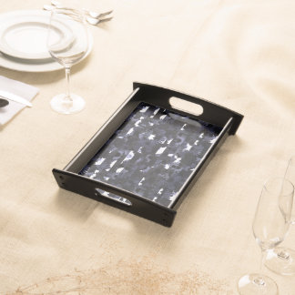moon less night floral serving tray