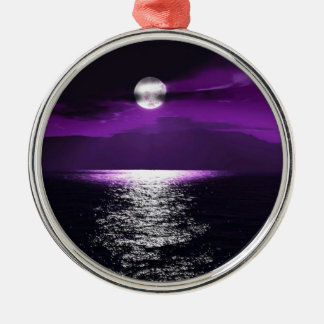 Moon Light Silver-Colored Round Decoration