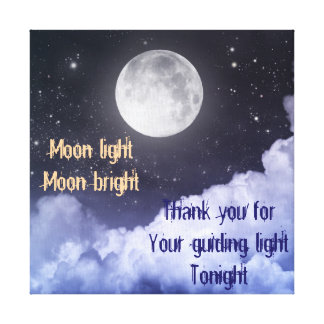 Moon Light Stretched Canvas Prints