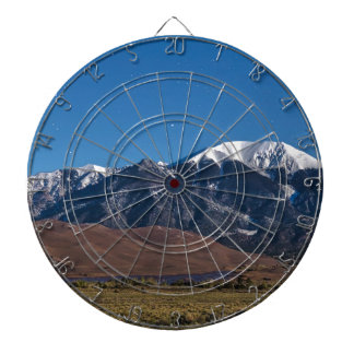 Moon Lit Colorado Great Sand Dunes Starry Night Dartboard