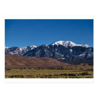 Moon Lit Colorado Great Sand Dunes Starry Night Postcard