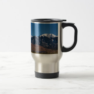 Moon Lit Colorado Great Sand Dunes Starry Night Travel Mug