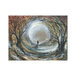 Moon lit walk canvas print