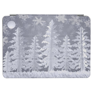 Moon lit Winter landscape iPad Air Cover