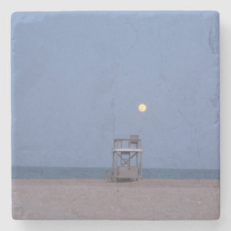 Moon Lookout Stone Beverage Coaster