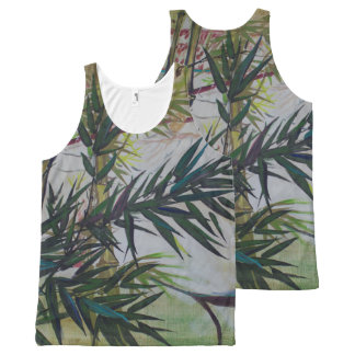 Moon Lovers with Flute All-Over Print Tank Top
