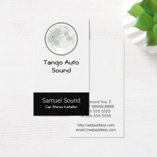 Moon Luna Tango Business Card