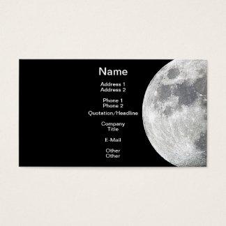 MOON Lunar Theme Business Card