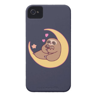 Moon Mama Sloth and Babies iPhone 4 Case-Mate Case