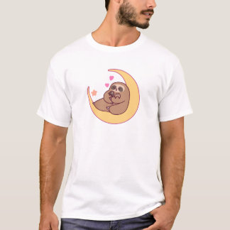 Moon Mama Sloth and Babies T-Shirt