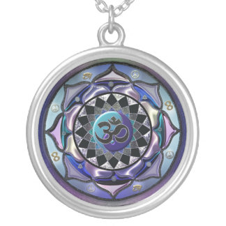 Moon Mandala Cool Toned Symbolic Necklace