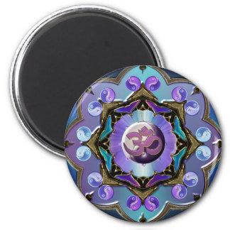 Moon Mandala Variation 6 Cm Round Magnet