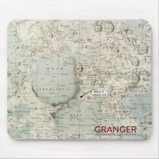 Moon Map Mouse Pad
