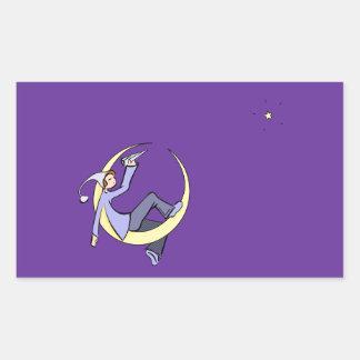 Moon Messenger Rectangular Sticker