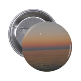 Moon on the sea 6 cm round badge