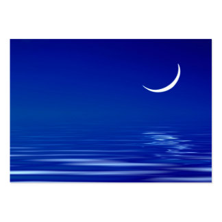Moon on the water business card template