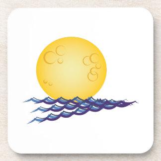 Moon On Water Beverage Coasters