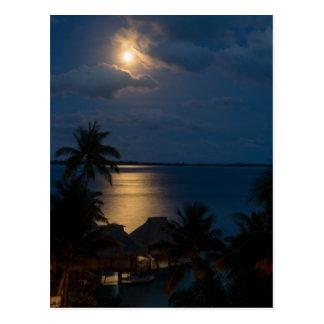 Moon one will bora will bora postcard