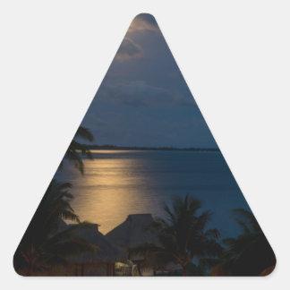 Moon one will bora will bora triangle sticker