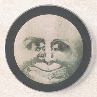 Moon Optical Illusion Coaster
