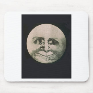 Moon Optical Illusion Mouse Pad