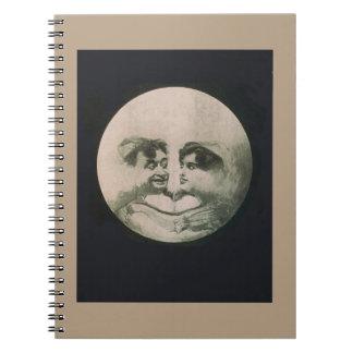 Moon Optical Illusion Notebook