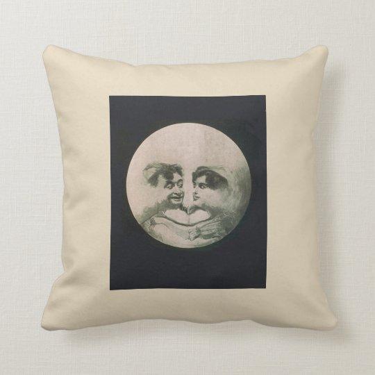 Moon Optical Illusion Throw Pillow