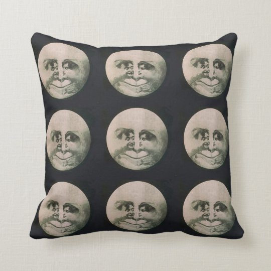 Moon Optical Illusion Throw Pillow