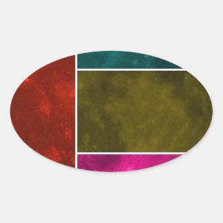Moon Oval Sticker