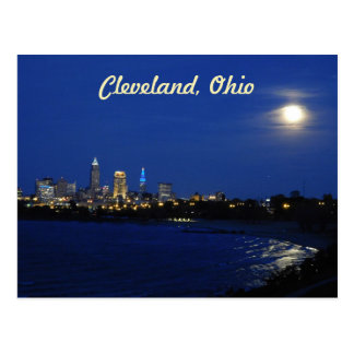 Moon over Cleveland Postcard